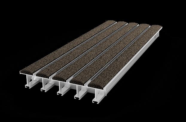 tapis d 39 entr e encastrable pedigrid 46mm aluminium. Black Bedroom Furniture Sets. Home Design Ideas